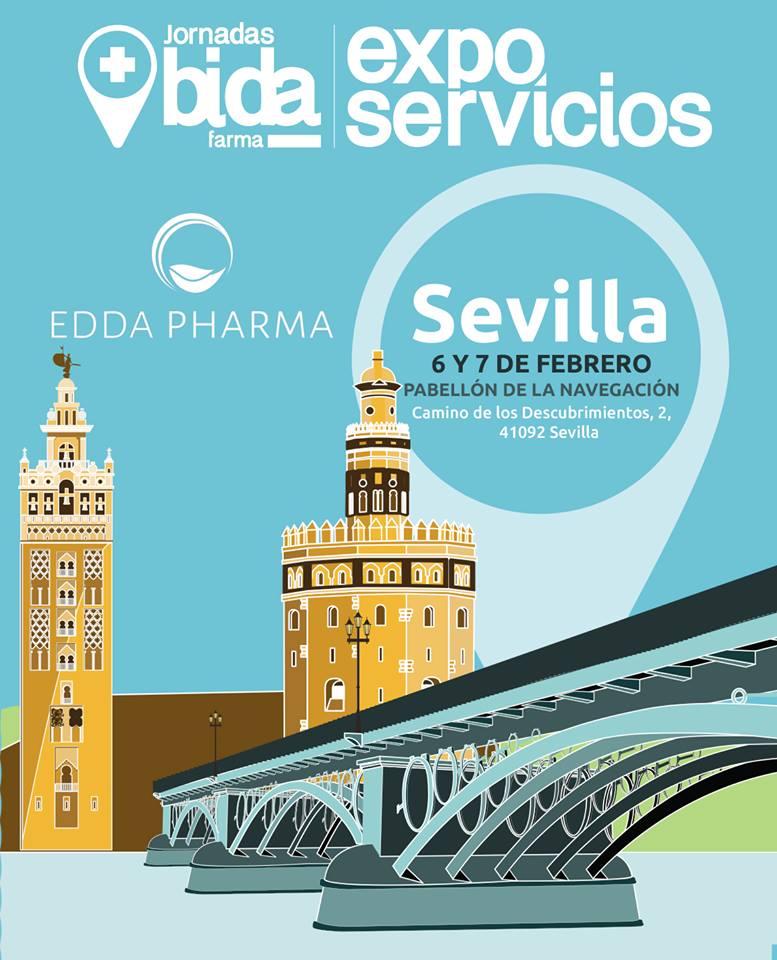 Edda Farma estará presente en las jornadas exposervicios de Bida Farma los días 6 y 7 de febrero en Sevilla, os esperamos en nuestro stand.